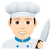 👨🏻‍🍳 man cook: light skin tone Emoji on Joypixels Platform