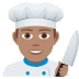 👨🏽‍🍳 man cook: medium skin tone Emoji on Joypixels Platform