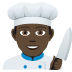 👨🏿‍🍳 man cook: dark skin tone Emoji on Joypixels Platform