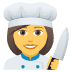 👩‍🍳 woman cook Emoji on Joypixels Platform
