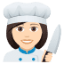 👩🏻‍🍳 woman cook: light skin tone Emoji on Joypixels Platform