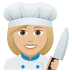 👩🏼‍🍳 woman cook: medium-light skin tone Emoji on Joypixels Platform