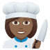 👩🏾‍🍳 woman cook: medium-dark skin tone Emoji on Joypixels Platform