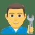 👨🔧 man mechanic Emoji on Joypixels Platform