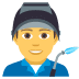 👨‍🏭 man factory worker Emoji on Joypixels Platform