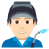 👨🏻‍🏭 man factory worker: light skin tone Emoji on Joypixels Platform