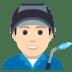 👨🏻🏭 man factory worker: light skin tone Emoji on Joypixels Platform