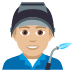 👨🏼🏭 man factory worker: medium-light skin tone Emoji on Joypixels Platform
