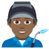 👨🏾‍🏭 man factory worker: medium-dark skin tone Emoji on Joypixels Platform