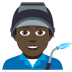 👨🏿‍🏭 man factory worker: dark skin tone Emoji on Joypixels Platform