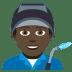 👨🏿🏭 Dark Skin Tone Male Factory Worker Emoji on JoyPixels Platform