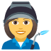 👩‍🏭 woman factory worker Emoji on Joypixels Platform