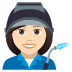 👩🏻‍🏭 woman factory worker: light skin tone Emoji on Joypixels Platform
