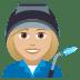 👩🏼🏭 woman factory worker: medium-light skin tone Emoji on Joypixels Platform