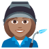 👩🏽‍🏭 woman factory worker: medium skin tone Emoji on Joypixels Platform