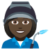👩🏿‍🏭 woman factory worker: dark skin tone Emoji on Joypixels Platform