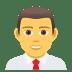 👨💼 man office worker Emoji on Joypixels Platform