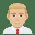 👨🏼💼 man office worker: medium-light skin tone Emoji on Joypixels Platform