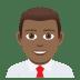 👨🏾💼 Medium Dark Skin Tone Male Office Worker Emoji on JoyPixels Platform