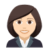👩🏻‍💼 woman office worker: light skin tone Emoji on Joypixels Platform