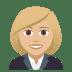 👩🏼💼 woman office worker: medium-light skin tone Emoji on Joypixels Platform