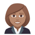 👩🏽‍💼 woman office worker: medium skin tone Emoji on Joypixels Platform