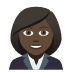 👩🏿‍💼 woman office worker: dark skin tone Emoji on Joypixels Platform