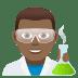 👨🏾🔬 man scientist: medium-dark skin tone Emoji on Joypixels Platform