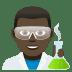 👨🏿🔬 man scientist: dark skin tone Emoji on Joypixels Platform