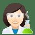 👩🏻🔬 woman scientist: light skin tone Emoji on Joypixels Platform