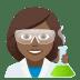 👩🏾🔬 woman scientist: medium-dark skin tone Emoji on Joypixels Platform