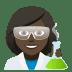 👩🏿🔬 woman scientist: dark skin tone Emoji on Joypixels Platform