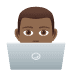 👨🏾‍💻 man technologist: medium-dark skin tone Emoji on Joypixels Platform