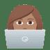 👩🏽💻 woman technologist: medium skin tone Emoji on Joypixels Platform