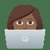 👩🏾💻 woman technologist: medium-dark skin tone Emoji on Joypixels Platform