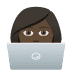 👩🏿‍💻 woman technologist: dark skin tone Emoji on Joypixels Platform