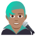 👨🏽‍🎤 man singer: medium skin tone Emoji on Joypixels Platform