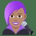 👩🏽🎤 woman singer: medium skin tone Emoji on Joypixels Platform