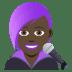 👩🏿🎤 woman singer: dark skin tone Emoji on Joypixels Platform