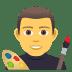 👨🎨 man artist Emoji on Joypixels Platform