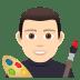 👨🏻🎨 man artist: light skin tone Emoji on Joypixels Platform