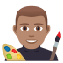 👨🏽‍🎨 man artist: medium skin tone Emoji on Joypixels Platform