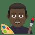 👨🏿🎨 man artist: dark skin tone Emoji on Joypixels Platform