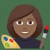 👩🏾🎨 woman artist: medium-dark skin tone Emoji on Joypixels Platform