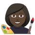 👩🏿🎨 woman artist: dark skin tone Emoji on Joypixels Platform