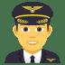 👨✈️ man pilot Emoji on Joypixels Platform