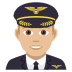 👨🏼✈️ man pilot: medium-light skin tone Emoji on Joypixels Platform