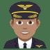 👨🏽✈️ man pilot: medium skin tone Emoji on Joypixels Platform