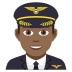 👨🏾‍✈️ man pilot: medium-dark skin tone Emoji on Joypixels Platform