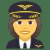 👩✈️ woman pilot Emoji on Joypixels Platform